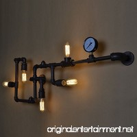BAYCHEER HL371017 Industrial Retro Vintage style Farmhouse Industry Steam Punk Water Pipe Wall Sconce wall light lamp with use 5 each 40w E26 Bulbs - B01LYGWHIJ