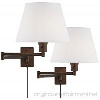 Clement Plug-In Swing Arm Wall Lamp Set of 2 in Bronze - B01I5YI1OO