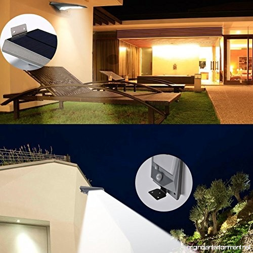 Falove Solar Lights 18 LED Outdoor Solar Gutter Motion