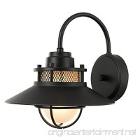 Globe Electric 44233 Liam Outdoor Wall Sconce Black - B07CT9LR2X