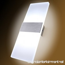 Kernorv LED Wall Sconces Light Modern and Fashion Cool White Modern Wall Sconce Decorative Lamps for Bedroom Living Room Balcony Porch Office and Hotel Hallway 11.4 x 4.3 (12W) - B07DDDR13V