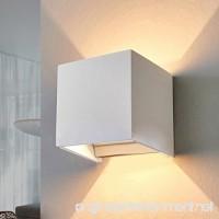LED Aluminum Waterproof Wall Lamp 12W 85-225V 3200K Adjustable Outdoor Wall Light Warm Light 2 LEDS (White) - B01LX8ZH4B