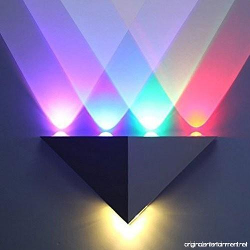 Lemonbest Modern Triangle 5w Led Wall Sconce Light Fixture