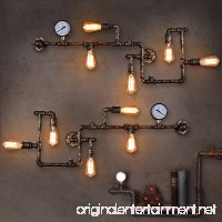 LightInTheBox Loft Industrial Wall Lamps Antique Edison Wall lights with Bulbs E26/E27 Vintage Pipe Wall Lamp for Living Room Lighting (Black) - B01N2OM1ZX