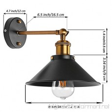 Metal Wall Sconce 1 Light Fixture E26 Base UL Plug In Cord Lighting Vintage Industrial Loft Style Wall Lamp For Bathroom Dining Room Kitchen Bedroom Bulbs Included - B076GZV6Q5