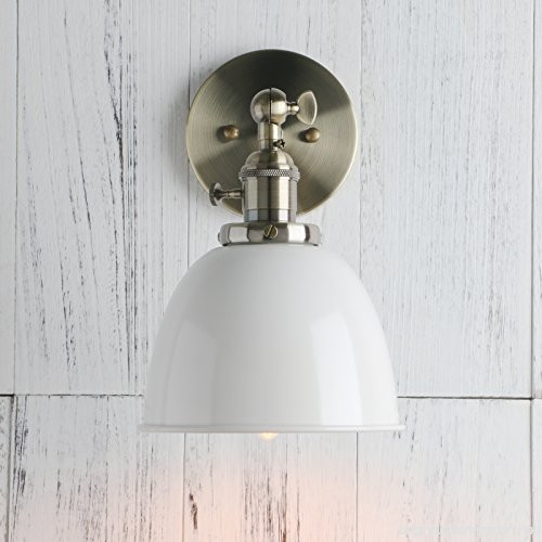 Permo 6.3-Inch Metal Dome Shade Industrial Wall Sconce