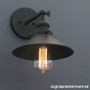 Phansthy Industrial Wall Sconce Light 7.87 inch Vintage Style 1-Light Sconce Light Shade - B0739Y2L63
