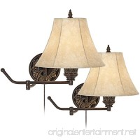 Rosslyn Set of 2 Bronze Plug-In Swing Arm Wall Lamps - B006OZZG68