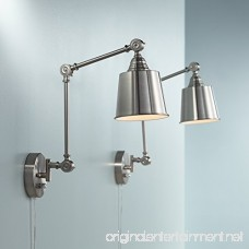 Set of 2 Mendes Brushed Steel Plug-In Wall Lamps - B01LZUXXWE