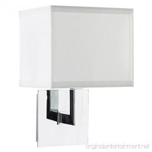 Sofia Wall Sconce Light - Chrome w/ White Fabric Shade - Linea di Liara LL-WL350-1-PC - B01CYU1LM4