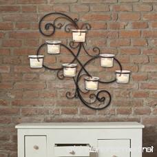 Stonebriar Transitional Scrolled Ivy Tea Light Candle Holder Hanging Wall Sconce Modern Home Decor for Living Room Bedroom Hallway or Bathroom Black - B00YO0DQBC