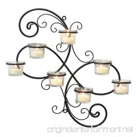 Stonebriar Transitional Scrolled Ivy Tea Light Candle Holder Hanging Wall Sconce  Modern Home Decor for Living Room  Bedroom  Hallway  or Bathroom  Black - B00YO0DQBC