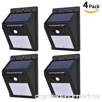 [4-Pack] Solar Powered Motion Sensor Lights  LinkStyle 8 LEDs Outdoor Solar Light Weatherproof Security Wall Light with 2 Intelligent Modes for Garden Yard Patio Deck Wall Driveway Steps- Black - B077M5KCR5