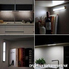 Battery LED Light Motion Sensor Portable 10 LED Night Light DIY Stick-on Anywhere Wireless Stairs Light Automatic Motion Induction Closet Cabinet Wardrobe Display Warm Lamp (Cool 1-Pack) - B076VN9W6Z