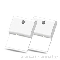 BrightOutlets Rectangle Battery Powered Motion Sensor LED Wall Light - No-Wire Installation (2 Pack) - B07CP143MY