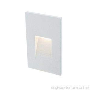 DALS Lighting LEDSTEP002D-WH 3 Recessed Vertical Indoor/Outdoor LED Step Light 3 White - B077NQ22X2