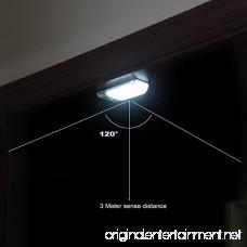 ITTA 2PCS LED PIR Night Light Auto Motion Sensor lamp Closet Cabinet Light Wireless PIR Infrared Induction Night lamp detective LED Lamp Kitchen Stairs Lighting - B07CR9J239
