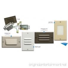 Kichler 12600WH Step and Hall 120V LED Step Light Horizontal Louver White - B0058W8O3U