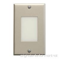 Kichler 12654NI Lens Face Design Pro Interior LED Indoor Step and Hall Light Brushed Nickel - B0057UW8WG