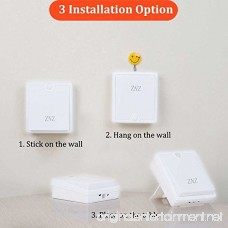 LED Motion Sensor Wall Light - Smart Lights LED Night Light Cordless Battery Powered Lamp Stair Closet Cabinet Light for Hallway Bathroom Bedroom Kitchen Pack of 2 ( Warm Light ) - B074W6PWHV