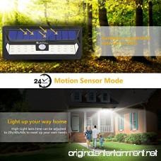 SUNTOLL Solar Lights Outdoor 30 LED Super Bright Step Light Solar Motion Sensor Security Light Wireless Waterproof Wall Lights for Front Door Garden Garage Path and Patio Lighting (1 Pack) - B07FJXPGCM