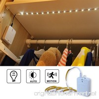 "WRalwaysLX Motion Sensor LED Night Light Dual Mode Activated Closet Light,40"" Flexible LED Strip with Motion Sensor Closet Light for Bedroom Laundry Garage White(3 AA Batteries Operated  Not Included) - B07FCKP8W3"