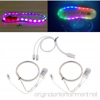 Wrisky 1 Pair Waterproof USB LED Shoes Strip Light 0.65mx2 RGB SMD3528 Flexible Decor - B074J52G64