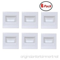 Zxlight 6-Pack LED Corner Wall Lamp 85-265V Embedded LED Stairs Step Night Light LED Stair Wall Lighting for Hallway  Stairs  Closet  Bedroom COOL White (White) - B078XQBQZW