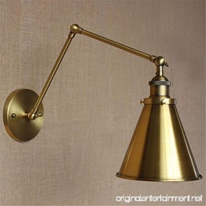BMEI E27 loft Iron brass Vintage Wall Lamp Simple style wall lamps For Cafe Room Retro Luxury Wall Sconce Rotate Wall Light - B076BK3PCL