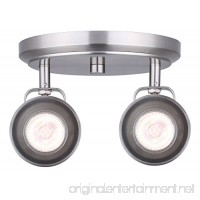 CANARM ICW622A02BN10 Ltd Polo 2 Light Ceiling/Wall Adjustable Heads Brushed Nickel - B01KXXSA3C