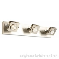 Design House 577817 Otero 3-Light Direct Track Ceiling or Wall Light  Brushed Nickel - B01HG4KR96