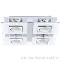 Eglo 92876A 4x35W Square Ceiling Light with Satin & Clear Glass  Chrome Finish - B00JCWBOKC