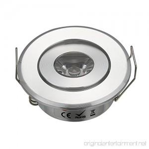 Pack of 10 Mini LED Spotlight Cabinet Lighting 13W Chrome Color 3W Cold White 6000K + Led Driver - B01N1XG8HW