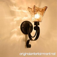 Wrought iron bedside single wall lamp hotel room aisle mirror front wall lamp - B0795P369P