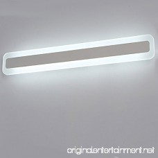 XiYunHan Front mirror lights Mirror front light led waterproof anti-fog bathroom bathroom mirror wall lamp European simple button led light rectangular (Color : Three-color dimming Style : 80CM-32W) - B07F64RHBK