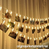 20 LED Photo Clips String Lights Christmas Lights Starry light Wall Decoration Light for Hanging Photos Paintings Pictures Card and Memos  16.4 feet  Battery Powered  Warm White - B01MCZDSKE