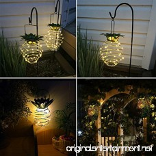 Adecorty Solar Lights Pineapple Hanging Solar Lanterns 2 Pack 30 LED Solar Garden Lights Outdoor Decor Pineapple Fairy Lights Solar Patio Lights Waterproof Solar String Lights for Patio Yard Decor - B07DHNSQ7V
