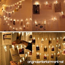 Alyattes LED Photo Clips String Lights Battery Powered Fairy Twinkle Decorative Lights for Bedroom Patio Garden Yard Wedding Party Home Photo Clips Indoor Outdoor (20 LED Warm White) - B075NRG71D