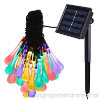 AMIR Solar Powered String Lights 8 Modes 30 LEDs Colorful Water Drop String Lights Raindrop Fairy Lights Starry Lights Waterproof Solar Decoration Lights for Gardens Home Party (Multi Color) - B01ICRKGRY