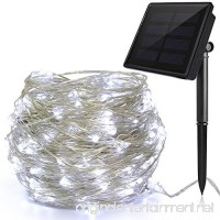Ankway Solar String White Lights  200 LED 3-Strand Copper Wire Fairy Lights 8 Modes 72 ft Solar Powered String Lights Waterproof IP65 LED Christmas Lights Outdoor Patio Garden Indoor Bedroom (White) - B0762XG4LK