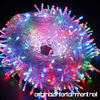 Christmas String lights  FULLBELL 33ft 100 LEDs with Controller Fairy Twinkle Lights Decoration for Chirstmas Tree Garden Multi Stings Connectable(Transparent Wire)(Multi-color) - B06XBNV1QV