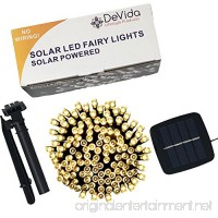 DeVida Solar String Lights 120 Warm White LED  Easy to Install  Automatically Turns on at Night  Outdoor Waterproof  55 ft set Includes 13 ft Lead Wire Plus 42 ft Lighted Strands for Tree Wrap - B018VMQ2XC