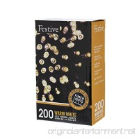 Festive Christmas String Lights  Battery Operated Timer LED  Warm White  200 bulbs - B071VTJNF4