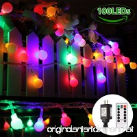Globe String Lights 100 LED Colored Fairy Lights Waterproof String Lights Plug in 44 Ft Warm White String Light with Remote Control for Patio Garden Party Xmas Tree Wedding Decoration - B07D7W8FBV
