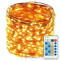 HaMi 66ft 200 LED String Lights Waterproof Christmas Lights Fairy Lights with UL Certified Decorative Copper Wire Lights for Bedroom Patio Wedding Party - Warm White - B01J7SENUS