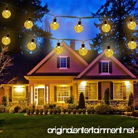 Icicle Solar String Lights Waterproof 30 LED Crystal Globe String Lights for Outdoor/Indoor Decorations  Warm White (20-Feet) - B0135O1EOS