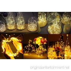 Ihomy Solar Powered String Lights 33ft 100 LEDs Waterproof Fairy Lights Outdoor/Indoor Starry Copper Wire Lights Decoration Lights for Gardens Home Wedding Party Christmas - B072ZXFF3L