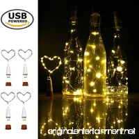 iMazer Wine Bottle Cork Lights Rechargeable USB Powered Copper Wire String Starry LED Light for DIY Party Home Decor Christmas Wedding or Mood Lights Wine Bottle Decorations (Warm White 4 Pack) - B071CQK9RC