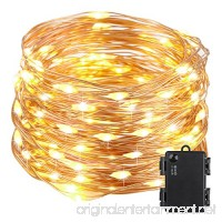 Kohree 100 Micro LEDs Christmas String Light Battery Powered on 33ft Long Ultra Thin String Copper Wire  Decor Rope Flexible Light with Timer and Battery Box Perfect for Weddings  Tree  Party  Xmas - B019IHCP2Q