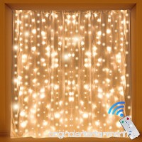Kohree Curtain Lights Wedding Light Remote Control Outdoor Indoor Icicle String Lights for Christmas Home Church Balcony Holiday Party Decorations Warm White 300 Leds 8 Mode UL Certified - B01MD1KMN5